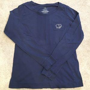 Ivory Ella navy blue long sleeve tee
